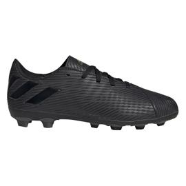 Buty piłkarskie adidas Nemeziz 19.4 FxG Junior EG3175 czarne czarne