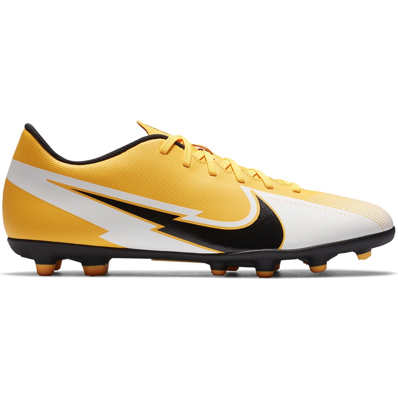 Buty piłkarskie Nike Mercurial Vapor 13 Club FG/MG AT7968 801 pomarańczowe żółte