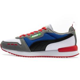 Buty męskie Puma R78 biało-niebiesko-czerwono-czarne 373117 10 białe czerwone granatowe szare