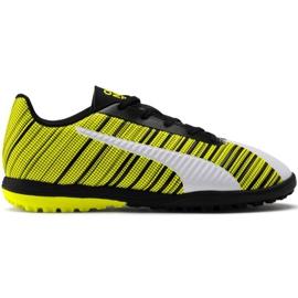 Buty piłkarskie Puma One 5.4 Tt Junior żółto-biało-czarne 105662 03 wielokolorowe żółte