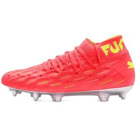 Buty piłkarskie dla dzieci Puma Future 5.1 Netfit Osg Fg Ag Junior 105946 01 czerwone żółte