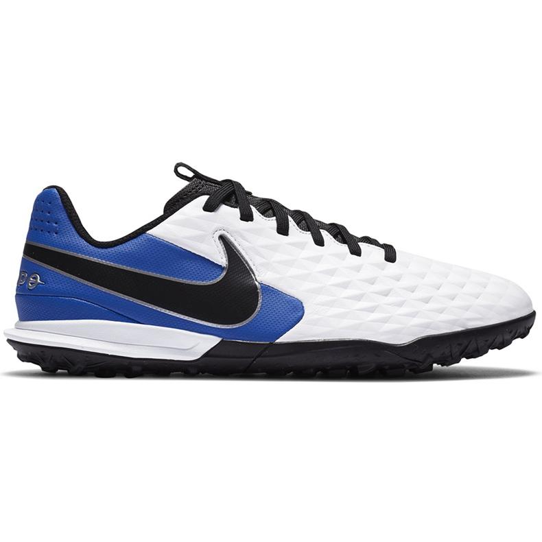 Buty piłkarskie Nike Tiempo Legend 8 Academy Tf Junior AT5736 104 niebieskie białe