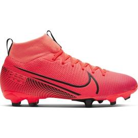 Buty piłkarskie Nike Mercurial Superfly 7 Academy FG/MG Junior AT8120 606 czerwone czerwone