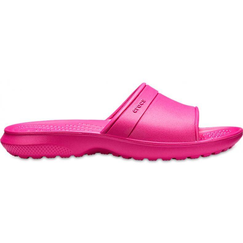 Crocs klapki dla dzieci Classic Slide Kids różowe 204981 6XO
