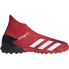 Buty piłkarskie adidas Predator 20.3 Ll Tf EE9576 czerwony,biały czerwone