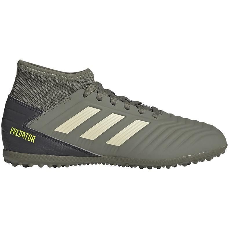 Buty piłkarskie adidas Predator 19.3 Tf Jr EF8220 zielone wielokolorowe