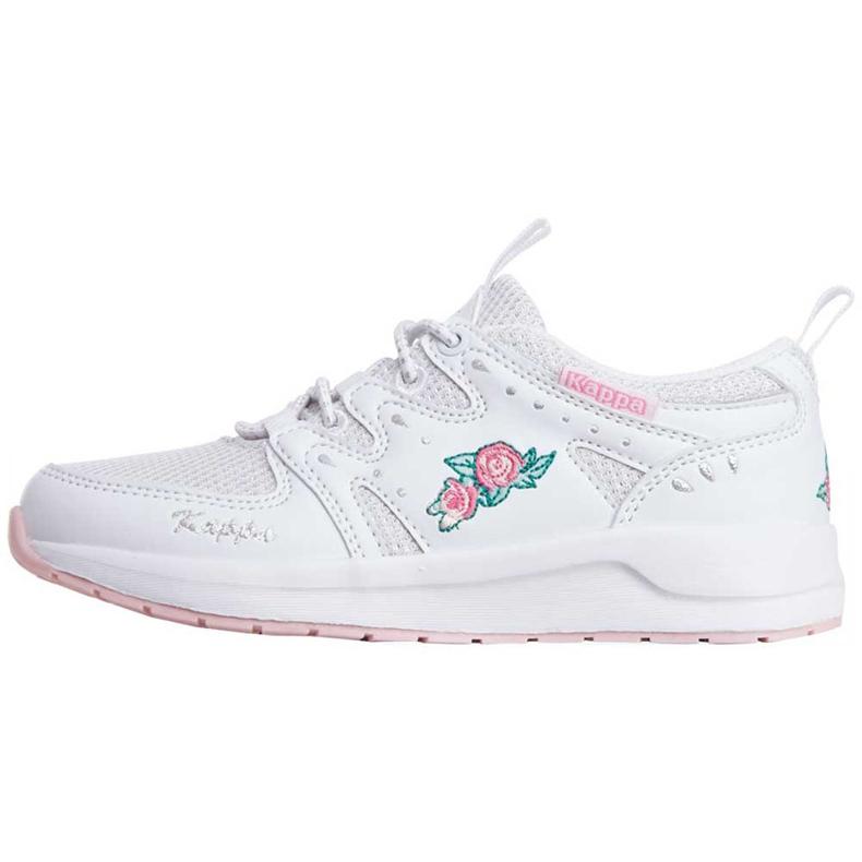 Buty dla dzieci Kappa Loretto K biało-różowe 260791K 1022 białe