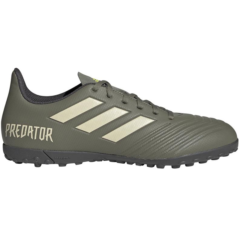 Buty piłkarskie adidas Predator 19.4 Tf EF8212 zielone zielone