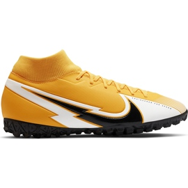 Buty piłkarskie Nike Mercurial Superfly 7 Academy Tf AT7978 801 pomarańczowe pomarańczowe