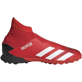 Buty piłkarskie adidas Predator 20.3 Ll Tf Jr EF1949 czerwone czerwone