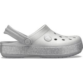 Crocs dla dzieci Crocband Glitter Clog Kids srebrne 205936 040 srebrny