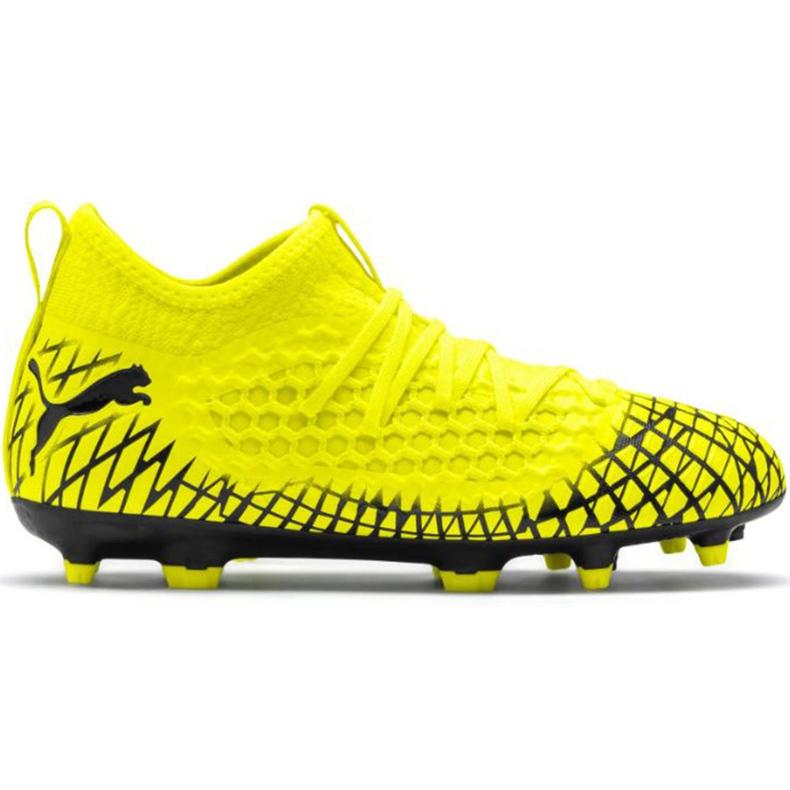 Buty piłkarskie Puma Future 4.3 Netfit Fg Ag Junior żółto-czarne 105693 03 wielokolorowe żółte