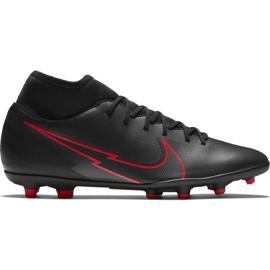 Buty piłkarskie Nike Mercurial Superfly 7 Club FG/MG AT7949 060 czarne czarny,czerwony