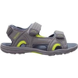 Sandały dla dzieci Kappa Early Ii K Footwear Kids szaro-limonkowe 260373K 1633 szare