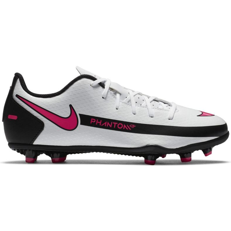 Buty piłkarskie Nike Jr Phantom Gt Club FG/MG CK8479 160 białe wielokolorowe