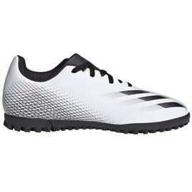 Buty piłkarskie adidas X GHOSTED.4 Tf Junior FW6801 szare białe