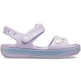 Crocs sandały dla dzieci Crocband Imagination Sandal Ps fioletowe 206145 530
