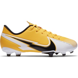 Buty piłkarskie Nike Mercurial Vapor 13 Academy FG/MG Junior AT8123 801 pomarańczowe żółte