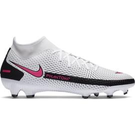 Buty piłkarskie Nike Phantom Gt Academy Df FG/MG CW6667 160 białe białe