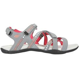 Sandały dla dziewczynki 4F multikolor HJL20 JSAD001 90S pomarańczowe różowe szare