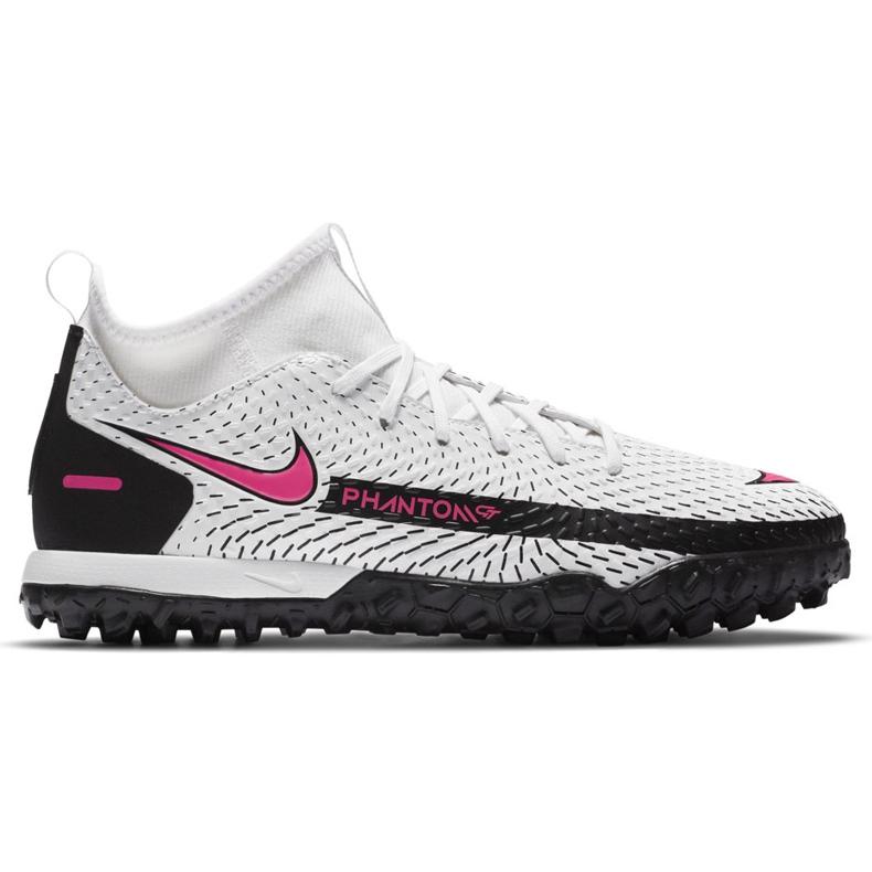 Buty piłkarskie Nike Phantom Gt Academy Df Tf Junior CW6695 160 białe białe
