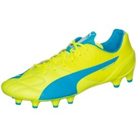 Buty piłkarskie Puma Evo Speed 1.4 Lth Fg żółto-niebieskie 103615 03 żółte żółte