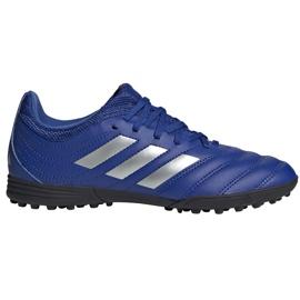 Buty piłkarskie adidas Copa 20.3 Tf Junior EH0915 niebieskie niebieskie