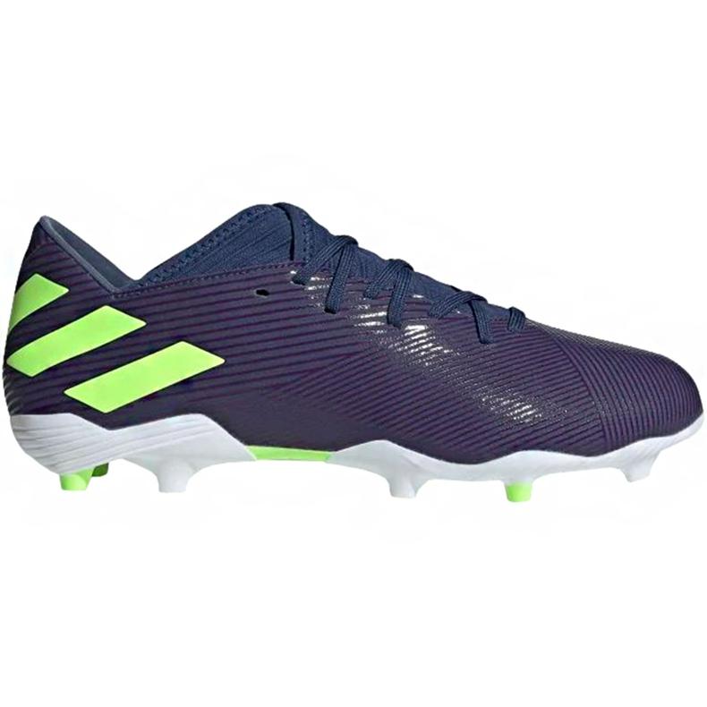 Buty piłkarskie adidas Nemeziz Messi 19.3 Fg EF1806 granatowe fioletowe