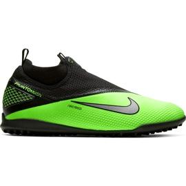 Buty piłkarskie Nike React Phantom Vsn 2 Pro Df Tf CD4174 036 zielone wielokolorowe