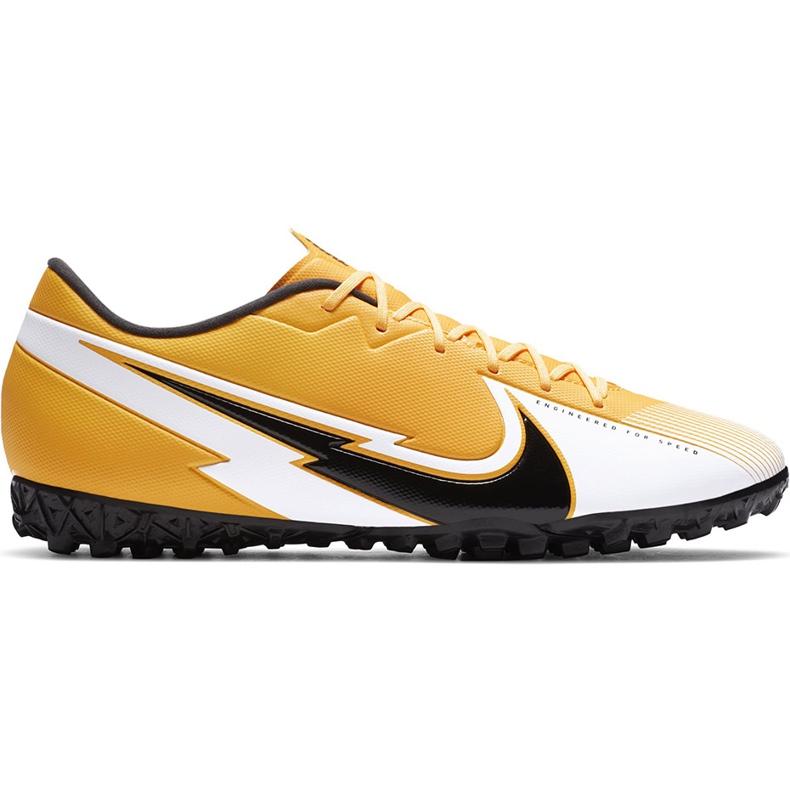 Buty piłkarskie Nike Mercurial Vapor 13 Academy Tf AT7996 801 pomarańczowe pomarańczowe