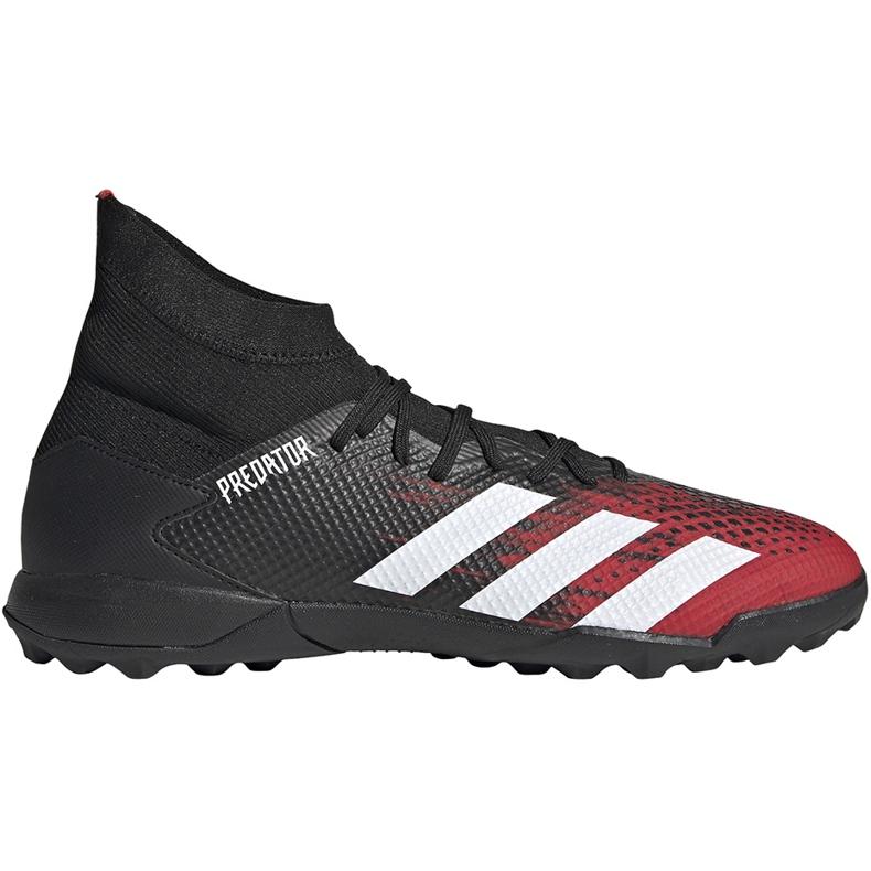 Buty piłkarskie adidas Predator 20.3 Tf czarno-czerwone EF2208 czarne wielokolorowe