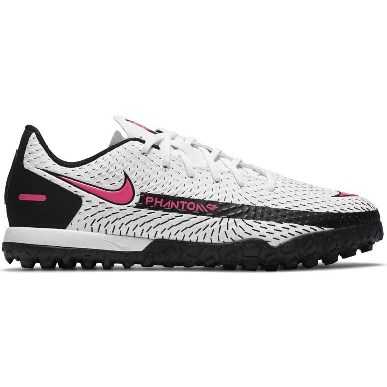 Buty piłkarskie Nike Jr Phantom Gt Academy Tf CK8484 160 białe białe