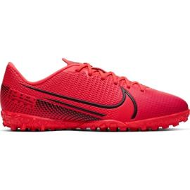 Buty piłkarskie Nike Mercurial Vapor 13 Academy Tf Junior AT8145 606 czerwone czerwone