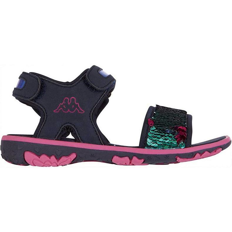 Sandały dla dzieci Kappa Seaqueen K Footwear Kids granatowo-różowe 260767K 6722 granatowe wielokolorowe