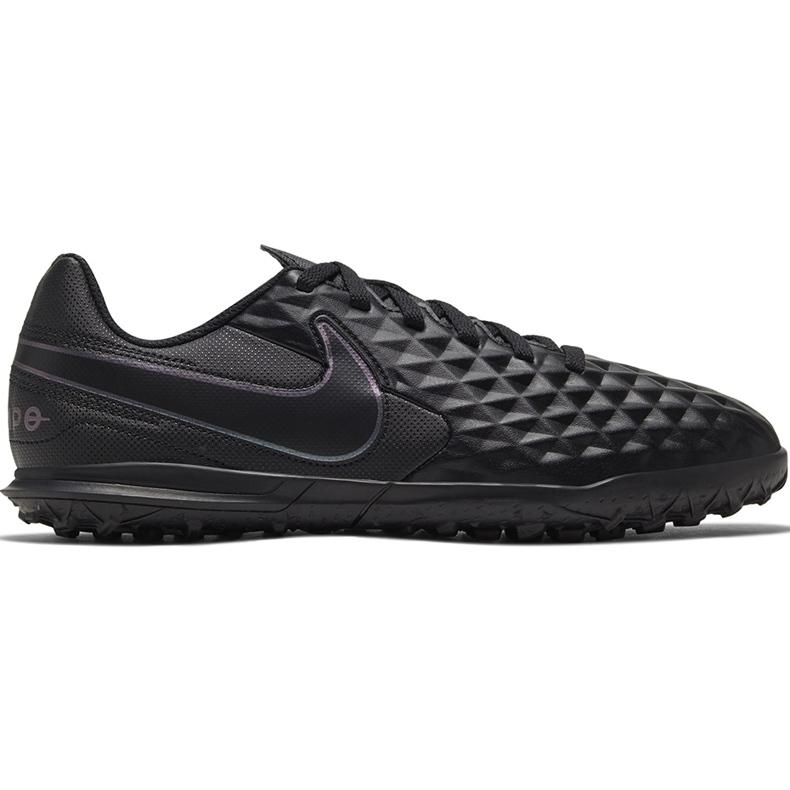 Buty piłkarskie Nike Tiempo Legend 8 Club Tf Junior AT5883 010 czarne czarne
