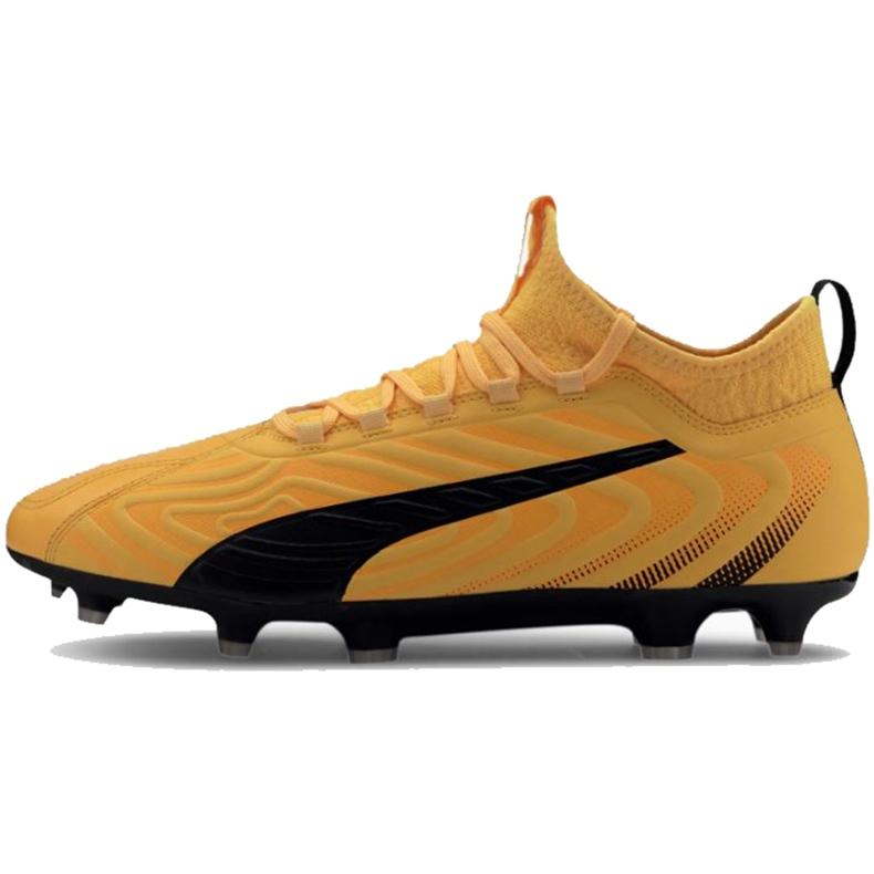 Buty piłkarskie Puma One 20.3 Fg Ag żółte 105826 01