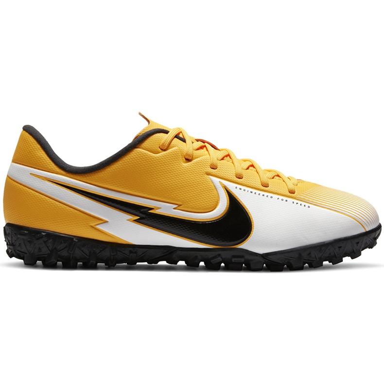 Buty piłkarskie Nike Mercurial Vapor 13 Academy Tf Junior AT8145 801 żółte pomarańczowe