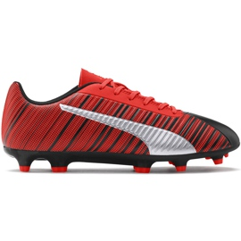 Buty piłkarskie Puma One 5.4 Fg Ag czerwono-czarne 105605 01 czerwone wielokolorowe