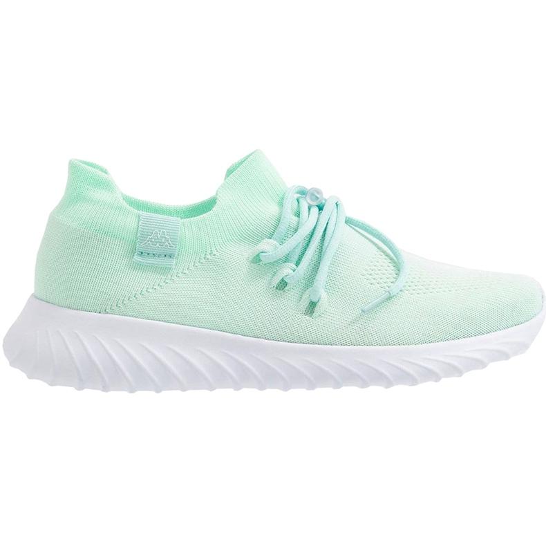 Buty damskie Kappa Zuc miętowo-białe 242818 3710 zielone