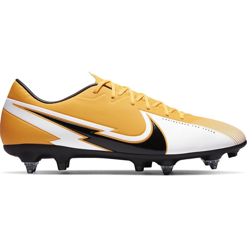 Buty piłkarskie Nike Mercurial Vapor 13 Academy SG-Pro Ac BQ9142 801 pomarańczowe pomarańczowe
