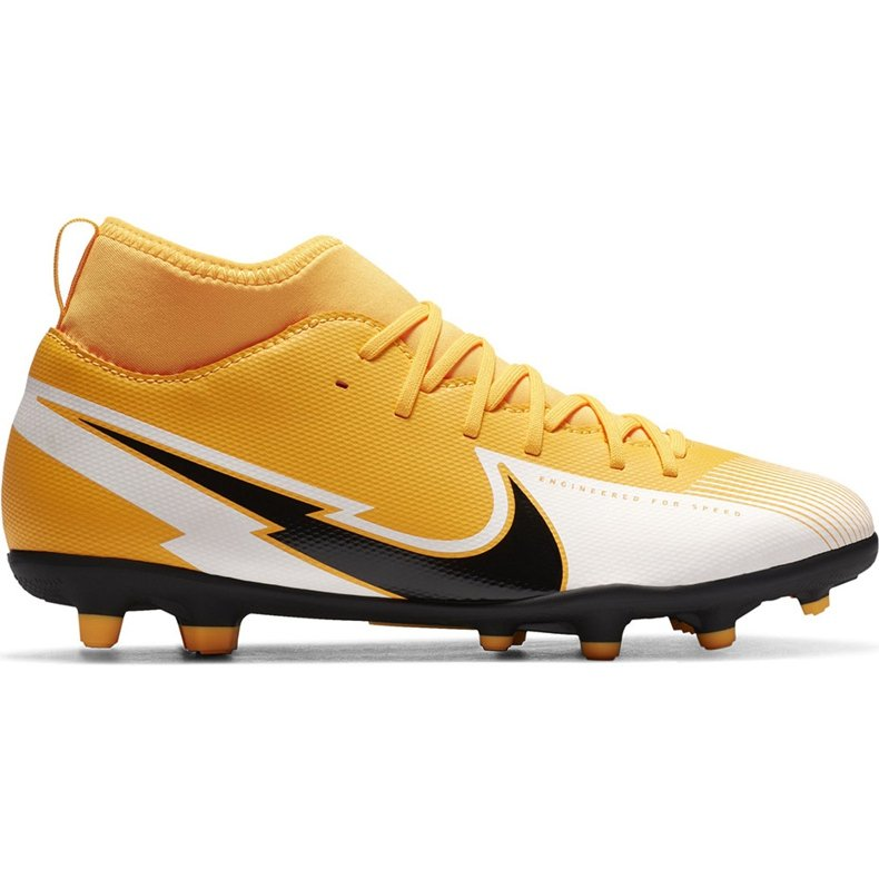 Buty piłkarskie Nike Mercurial Superfly 7 Club FG/MG Junior AT8150 801 żółte pomarańczowe