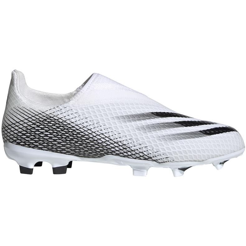 Buty piłkarskie adidas X GHOSTED.3 Ll Fg Junior EG8151 białe białe