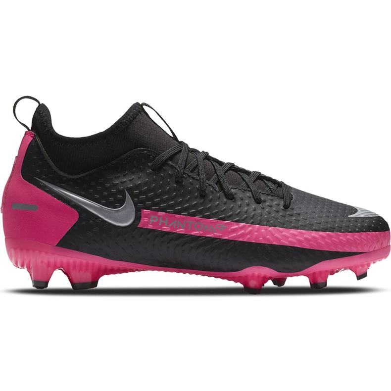 Buty piłkarskie Nike Phantom Gt Academy Df FG/MG Junior CW6694 006 czarne czarne