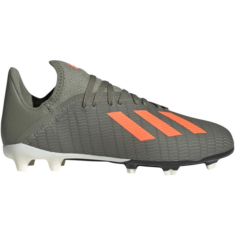 Buty piłkarskie adidas X 19.3 Fg Junior zielone EF8374 szare