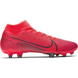 Buty piłkarskie Nike Mercurial Superfly 7 Academy FG/MG AT7946 606 czerwone granatowe
