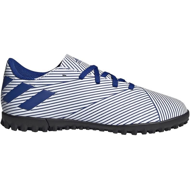 Buty piłkarskie adidas Nemeziz 19.4 Tf Junior biało-niebieskie FV3313 wielokolorowe