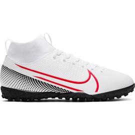 Buty piłkarskie Nike Mercurial Superfly 7 Academy Tf Jr AT8143 160 białe wielokolorowe