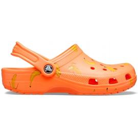 Crocs dla dzieci Classic Vacay Vibes Clog pomarańczowe 206375 801