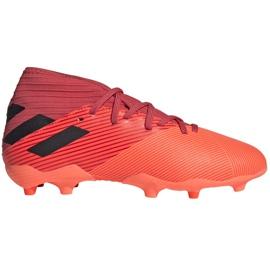 Buty piłkarskie adidas Nemeziz 19.3 Fg Junior EH0492 pomarańczowe czerwone