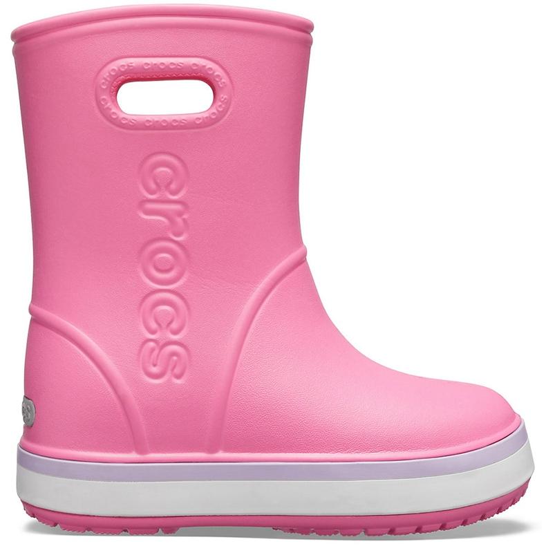 Crocs kalosze dla dzieci Crocband Rain Boot Kids różowe 205827 6QM